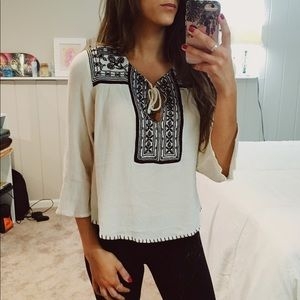 Forever 21 // Embroidered Flowy Top